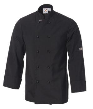 Club Chef Traditional Chef Jacket Black Long Sleeves