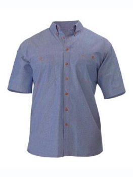 Bisley Chambray Shirt Short Sleeve