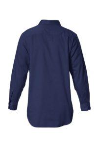 Hard Yakka Cotton Drill Closed Front Work Shirt Long Sleeve - Navy