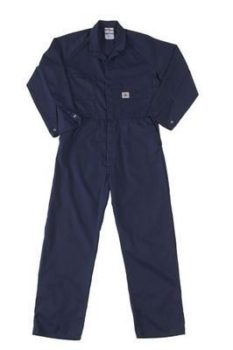 King Gee Wash N Wear Combination Overalls - Navy