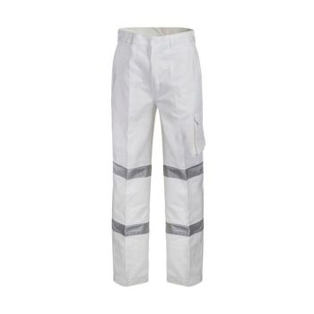 Modern Fit Cotton Drill Cargo Trouser With CSR Reflective Tape-WP3223