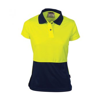 Ladies HiVis Two Tone Polo - Short Sleeve Product Code: 3897