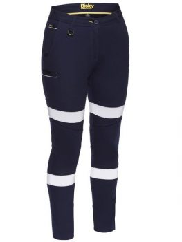 Women's Taped Mid Rise Stretch Cotton Pants Product Code: BPL6015T