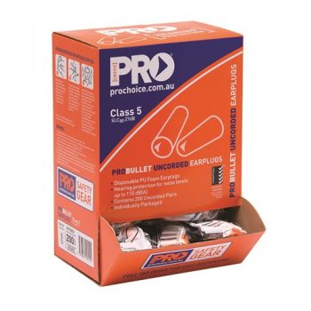 Pro Choice Probullet Disposable Uncorded Earplugs Uncorded